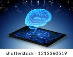 artificial intelligence concept ... | Shutterstock . vector #1213360519