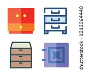 drawer icon set. vector set... | Shutterstock .eps vector #1213364440