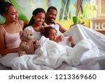 happy african american family... | Shutterstock . vector #1213369660