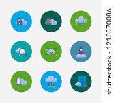 cloud service icons set. secure ...