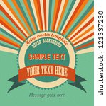 cool retro background with...   Shutterstock .eps vector #121337230