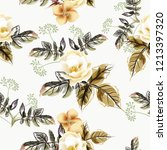 beautiful vector flower pattern ... | Shutterstock .eps vector #1213397320