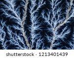 Blue Captured Lightning
