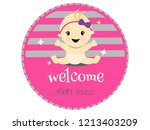 celebration welcome for baby... | Shutterstock .eps vector #1213403209