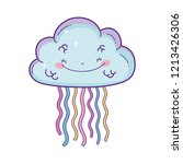 cloud and rainbow cartoon | Shutterstock .eps vector #1213426306