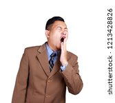 portrait of tired young asian...   Shutterstock . vector #1213428826