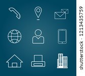 set symbol icon  business for... | Shutterstock .eps vector #1213435759