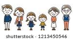 three generations family | Shutterstock .eps vector #1213450546