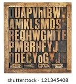 random letters of alphabet  ... | Shutterstock . vector #121345408