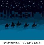 wise men traveling in the...   Shutterstock .eps vector #1213471216