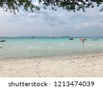 thailand island name is koh larn | Shutterstock . vector #1213474039