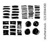 brush lines set. vector... | Shutterstock .eps vector #1213506430