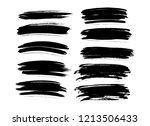 brush lines set. vector... | Shutterstock .eps vector #1213506433