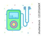 audio player   mp3   earphone   | Shutterstock .eps vector #1213516069