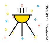 grilled   barbecue   food  | Shutterstock .eps vector #1213518583