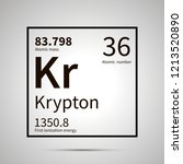 krypton chemical element with... | Shutterstock .eps vector #1213520890
