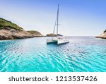 Beautiful Bay With Sailing Boat ...