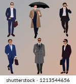 vector fashion illustration of... | Shutterstock .eps vector #1213544656