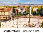 view on piazza del popolo with... | Shutterstock . vector #1213546426
