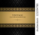 vintage vector background | Shutterstock .eps vector #121354780