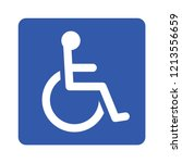wheelchair  handicapped or... | Shutterstock .eps vector #1213556659