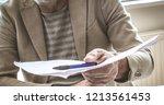 job is done. businessman giving ...   Shutterstock . vector #1213561453