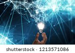 innovative idea in businessman... | Shutterstock . vector #1213571086