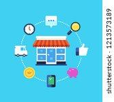 online shopping  eshop ...   Shutterstock .eps vector #1213573189