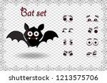 halloween vector set for... | Shutterstock .eps vector #1213575706