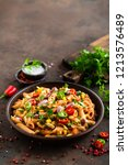 Spicy Pasta Penne Bolognese...