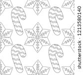 gingerbread. black and white... | Shutterstock .eps vector #1213580140