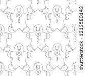 gingerbread. black and white... | Shutterstock .eps vector #1213580143