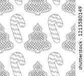 gingerbread. black and white... | Shutterstock .eps vector #1213580149