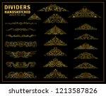 vector calligraphic elements... | Shutterstock .eps vector #1213587826