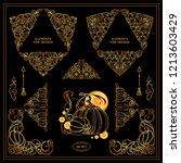 vector set of squares ... | Shutterstock .eps vector #1213603429