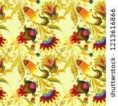 seamless pattern decorative... | Shutterstock . vector #1213616866