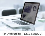 close up.laptop with financial... | Shutterstock . vector #1213620070