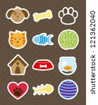 pets icons over brown...   Shutterstock .eps vector #121362040