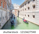 traditional gondolas floating... | Shutterstock . vector #1213627540