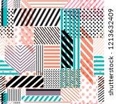 colorful polka dots stripe line ...   Shutterstock .eps vector #1213632409