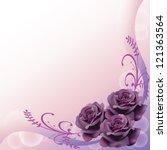 purple roses background pattern ... | Shutterstock .eps vector #121363564