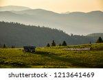 shepherds shelter and the... | Shutterstock . vector #1213641469