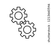 two gears icon | Shutterstock .eps vector #1213660546