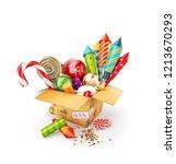 unusual 3d illustration of a... | Shutterstock . vector #1213670293