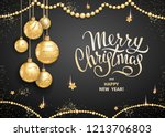 merry christmas and happy new...   Shutterstock .eps vector #1213706803