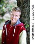 smiling teenage boy | Shutterstock . vector #121370938