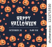 halloween invitation card.... | Shutterstock .eps vector #1213715530