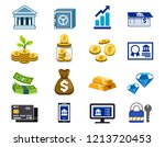 use of general banking service... | Shutterstock .eps vector #1213720453