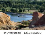 rainbow beach  five colored...   Shutterstock . vector #1213726030