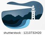 modern building lighthouse.... | Shutterstock .eps vector #1213732420